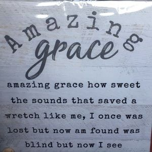 Other - Amazing grace wall art canvas